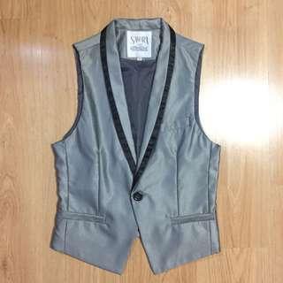 Gray Formal Suit Vest