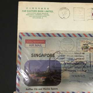 Singapore old envelopes