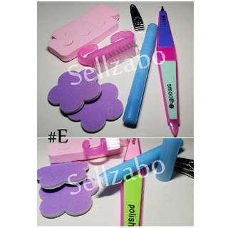💅 Nails Beauty Tools Sets : 6 Pcs : Care : Grooming : Fingers : Toes : Fingernails : Toenails :  Manicure : Pedicure : Pink : Purple : Colour : Bundle : #E