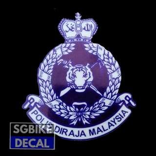 Polis Reflective Decal