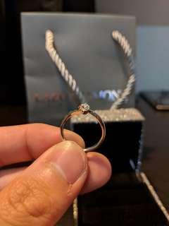 Lazo Diamond Ring 9K White Gold Ring