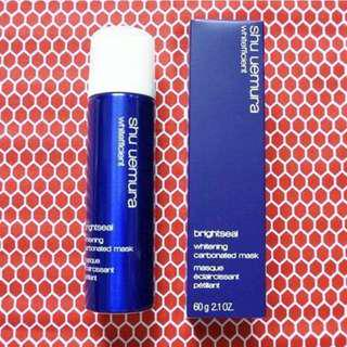 ✨Shu uemura 美白亮白注氧泡沫面膜 whitefficient brightseal whitening carbonated mask 60g (new with box)