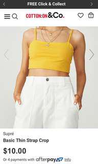 Supre thin strap crop top