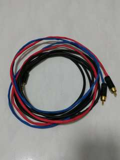 Canare L-2E5 3.5mm to 2RCA cable 3m with REAN connectors