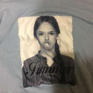 🚚 人像T恤 吹泡泡的女孩