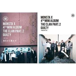 [PRE-ORDER] MONSTA X THE CLAN PART 2 GUILTY ALBUM