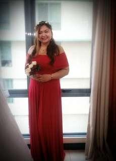 Preloved Red Infinity Dress