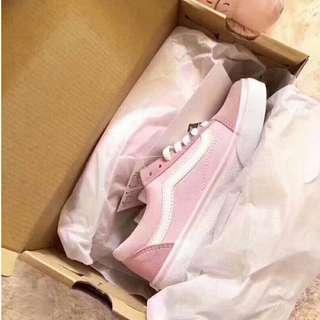 Vans萬斯GD權志龍同款粉色帆布鞋