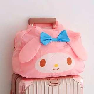 My Melody 布甸狗 Hello Kitty  可摺疊旅行袋  可套行李箱拉杆 可單肩咩
