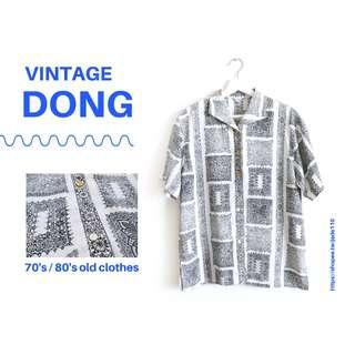 🚚 | 咚 咚 Vintage |法式古著- |白夜行|短袖上衣