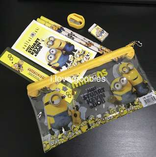Minions stationary Sets- Goodie Bag Gift, Birthday Party Goodie Favours