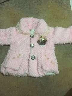 Mantel bulu pink