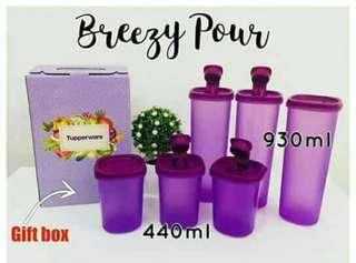 Tupperware Murah2 Breezy Pour (6 pcs)