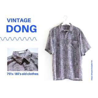 🚚 | 咚 咚 Vintage |日本古著-荒神之羊短袖襯衫