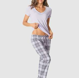LaSenza Plaid Sleepwear Set