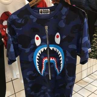 Bape Sharks Tshirt Original Authentic