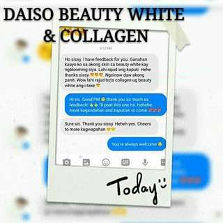 Daiso Beauty White and Collagen Supplements
