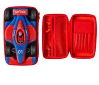 Smiggle racing car hardtop pencil case (red)