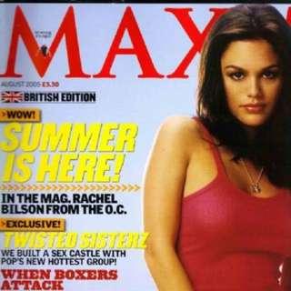 Maxim magazine August 2005 Rachel Bilson
