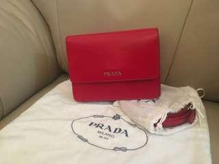 Prada red handbag