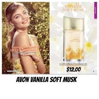 (PO)  Avon Vanilla Soft Musk