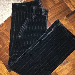 Black Velvet Chino Pants