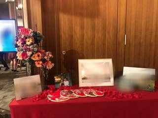 中式婚禮佈置 裝飾 圓型繡花裝飾