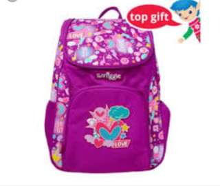 Smiggle chirpy access backpack (purple)