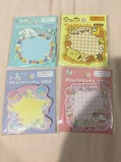 Sanrio post it note (Cinnamon Roll/Pompompurin/ Little Twin Stars/My Melody)