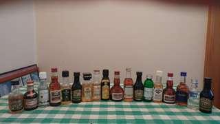 18 Liquor Minatures Collectibles 18 支多年收藏酒版