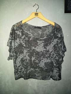 Transparant croptee