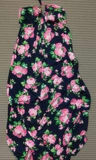 🚚 One size) 花花即地海灘長裙Maxi dress