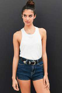 Zara White Crop Tank