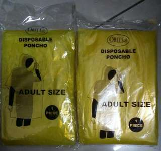 Disposable Poncho For Adult (2 Pkts)