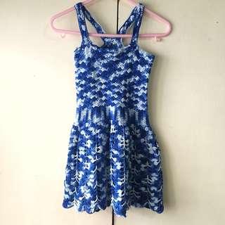 Girls' Crocheted Blue Dress (6mos - 2 years)