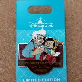 父親節2018 小木偶 迪士尼徽章 LE500 disney pin