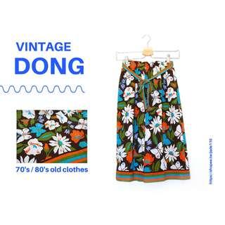 🚚 | 咚 咚 Vintage |法式古著- 聖彼得小花園古典長裙