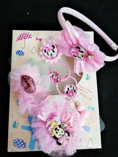Minnie girls hair pin, clips, hairband