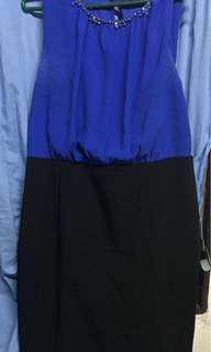 Blue/Black Dress