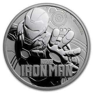 Marvel 超級英雄系列第一擊 - Iron Man 鐵甲奇俠銀幣1oz  復仇者聯盟 fans 不容錯過!