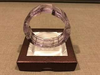 清透料紫水晶手牌 clear purple amethyst