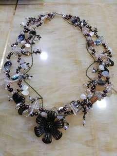 Pearls and precious stones costume jewelry