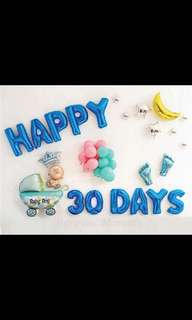 🚚 Baby Shower Party balloons decoration set happy birthday banner