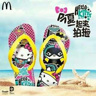 🚚 麥當勞Hello Kitty x DC人字拖 #女裝半價拉