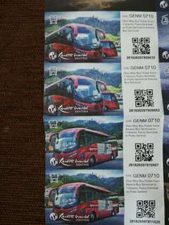 Genting Highland bus tickets