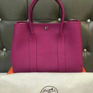 Bnew Hermes Garden Party 36 Rose Pourpre