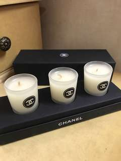 CHANEL VIP ITEM Luxury Scented Candles (Set of 3)