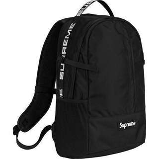 Supreme Backpack ss18 Black Colour