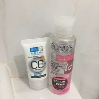 PAKET HADALABO CC Cream + PONDS Brightening Micellar Water