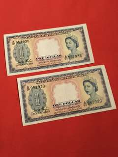 2pc of Running number Malaya queen A/91 957938  A/91 957939 offer 2pcs